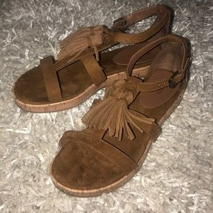Suede Mossimo Sandals with Tassels